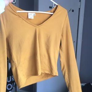 Cropped Yellow Shirt